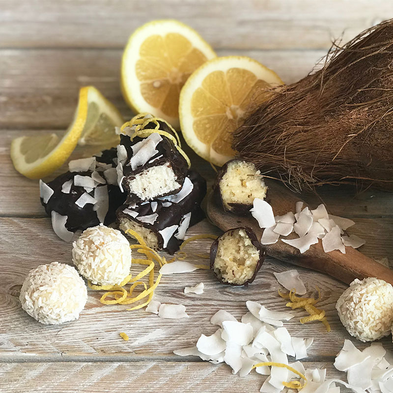 Coconut & Lemon Bon Bons by The Bean Tree