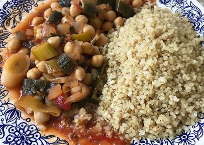 Mediterranean Chickpeas with Quinoa & Brown Rice