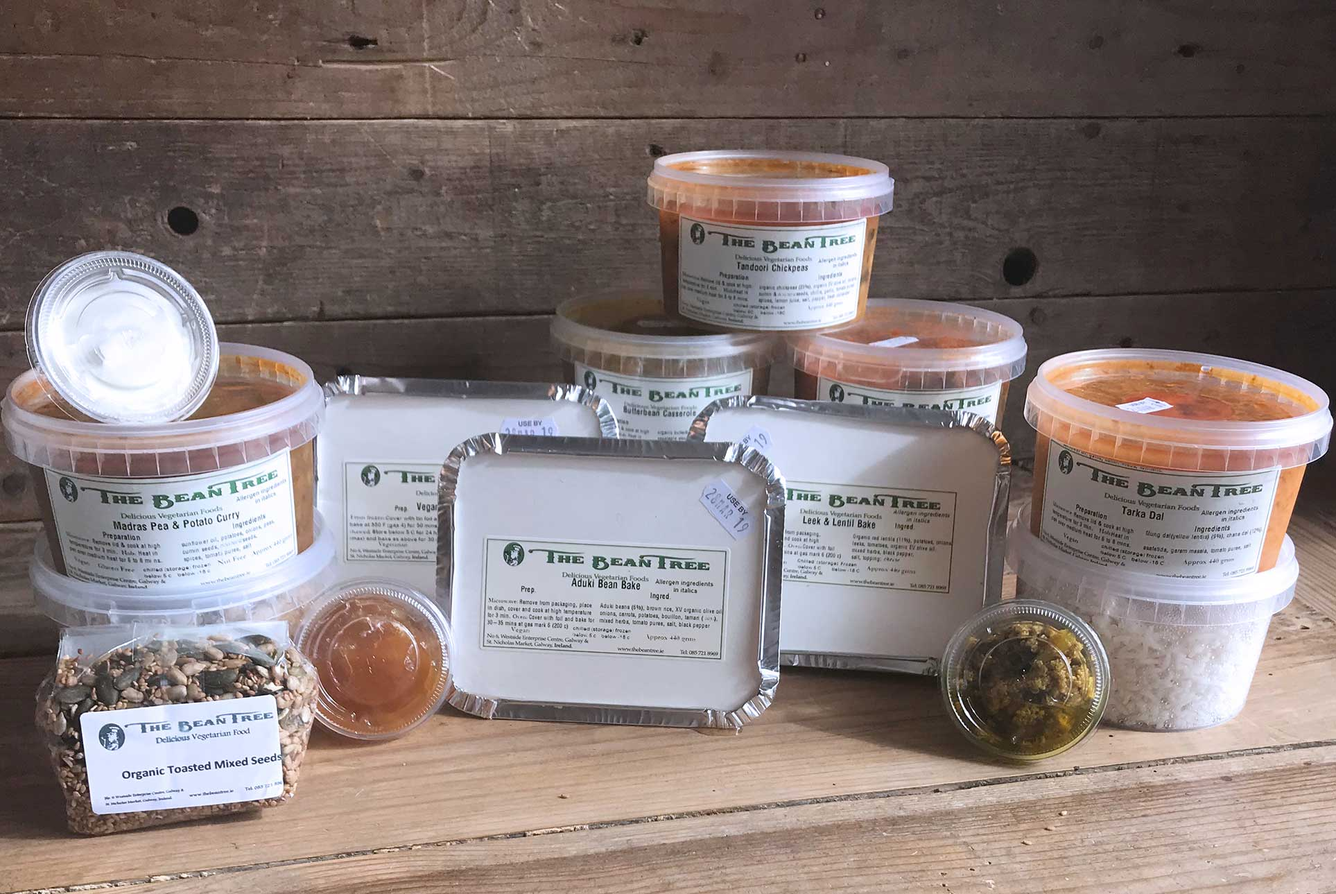 The Bean Tree chilled/frozen take home meals